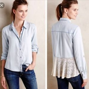 Western holding horses button down